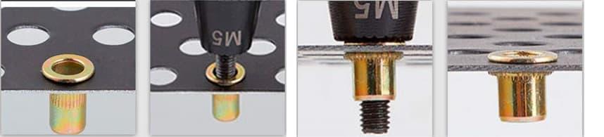 Cómo funciona una remachadora de tuercas