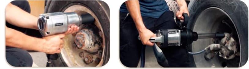 llave de impacto en ruedas
