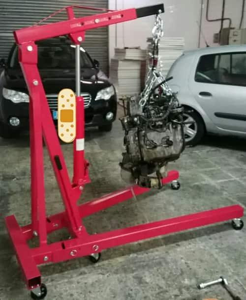 grua de taller para elevar motores