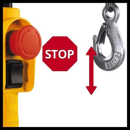 parada stop de polipasto Einhell Polipasto TC de EH 250